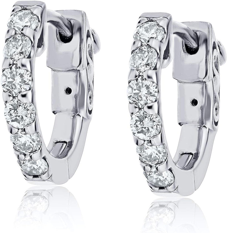 The Diamond Channel - Popular brand in the world 14K Hoop Women for In stock Gold Earrings