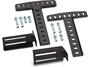 LUCID Brackets-Attach Headboad to L100 Adjustable Bed Base - Easy to Customize - Durable - Solid Steel