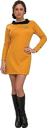 Rubie's Star Trek Classic Deluxe Dress in Gold Costume