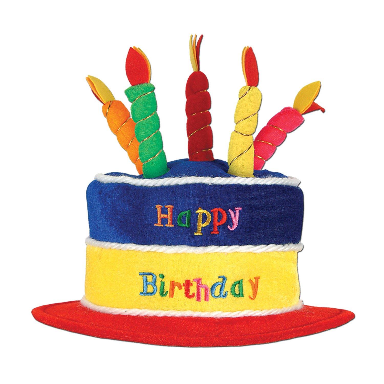 Admirable Beistle 60717 Plush Birthday Cake Hat Buy Online In Albania Personalised Birthday Cards Vishlily Jamesorg