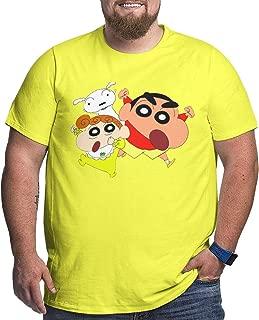 Men Crayon Shin-chan and Sister Casual Big Size Tee T-Shirts Short Sleeve Freestyle Tee