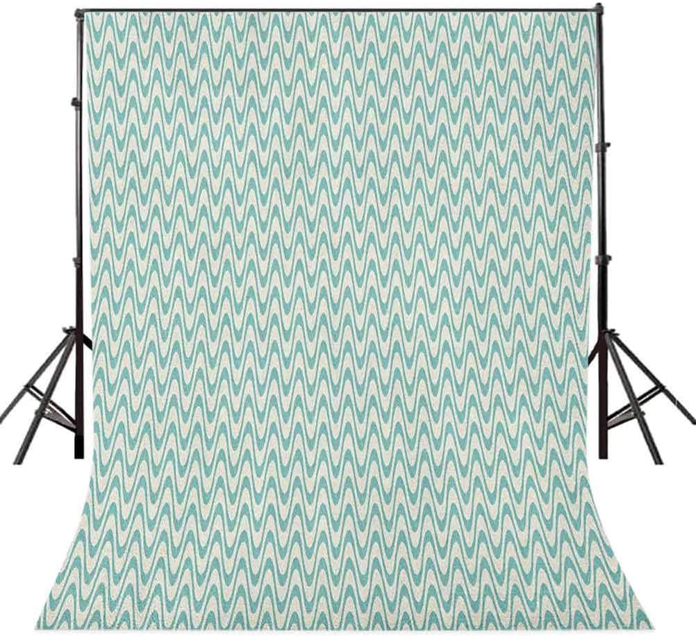 8x12 FT Grey and White Vinyl Photography Backdrop,Futuristic Pattern with Small Grey Squares and Optical Effect Background for Party Home Decor Outdoorsy Theme Shoot Props