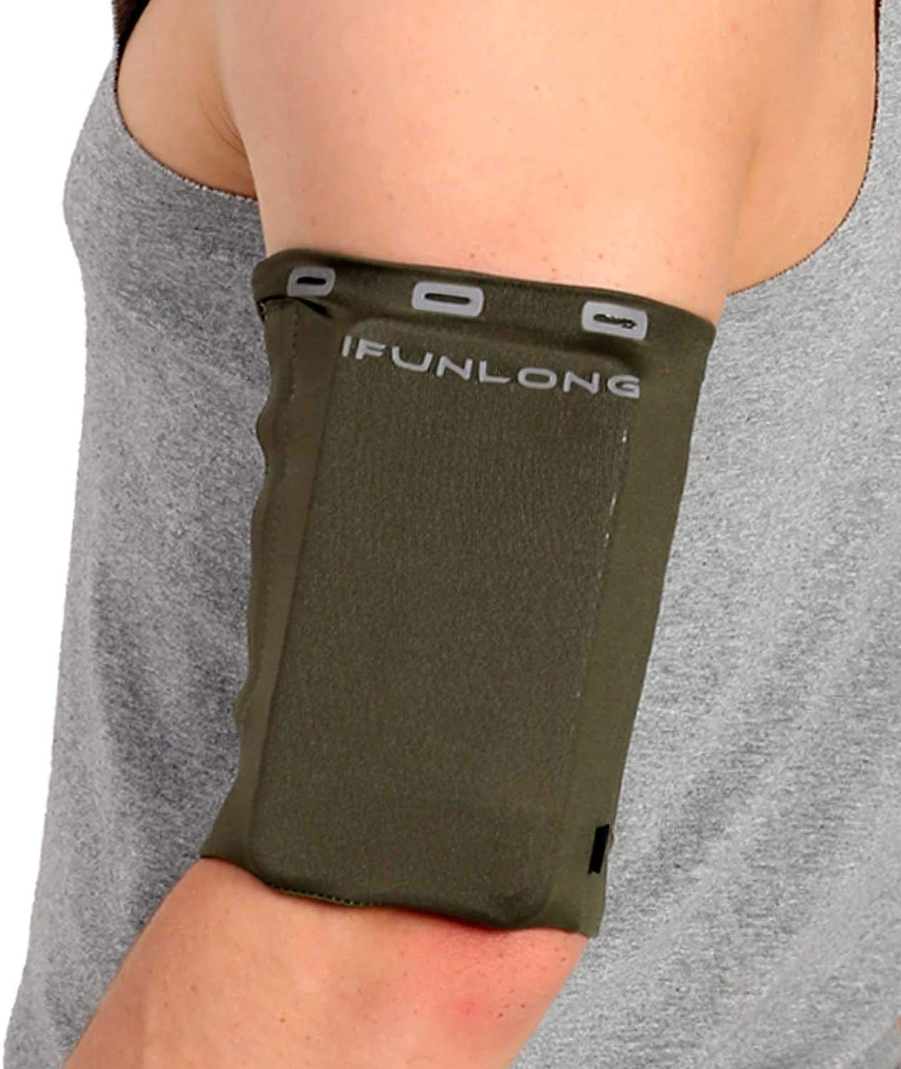 iFunLong Armband for Cell Phone Running   Exercise Working Out Sports Arm Band Sleeve Pouch Case Holder Fits iPhone 12 Pro Max Mini 11 X XR XS 8 7 Plus/Samsung LG Android Phones Upto 8 Inches