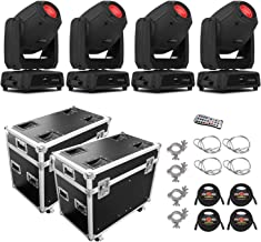 Chauvet DJ Intimidator Spot 475Z Moving-Head LED Spotlight - Quad with 2 Prox Cases, Cables, couplers and 1 IRC6 Remote