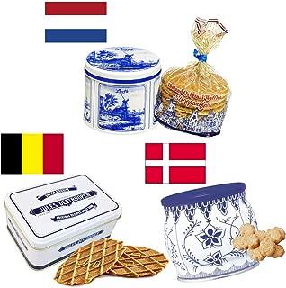 【ヨーロッパのお土産】 欧州の大人気 3缶セット(デストルーパーミニレトロ缶75g、ストループワッフル缶250g、コペンハーゲンダニッシュミニクッキー 250g) 輸入菓子 輸入クッキー 海外クッキー プレゼント 贈り物 おかし 大人気クッキー