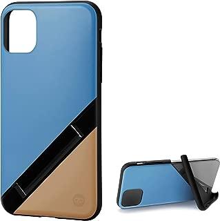 カンピーノ campino iPhone 11 ケース OLE stand スタンド機能 耐衝撃 スリム 動画 Qi ワイヤレス充電対応 スカイ ブルー × サンド ベージュ Bi-Color 青