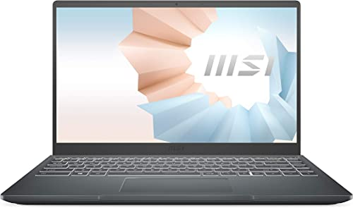 """discount MSI Modern 14 outlet sale Professional Laptop: 14"""" IPS-Level Thin Bezel Display, Intel Core i5-1135G7, NVIDIA GeForce MX450, 8GB RAM, 1TB NVMe SSD, Win10 PRO, Carbon Gray wholesale (B11SB-084) online sale"""