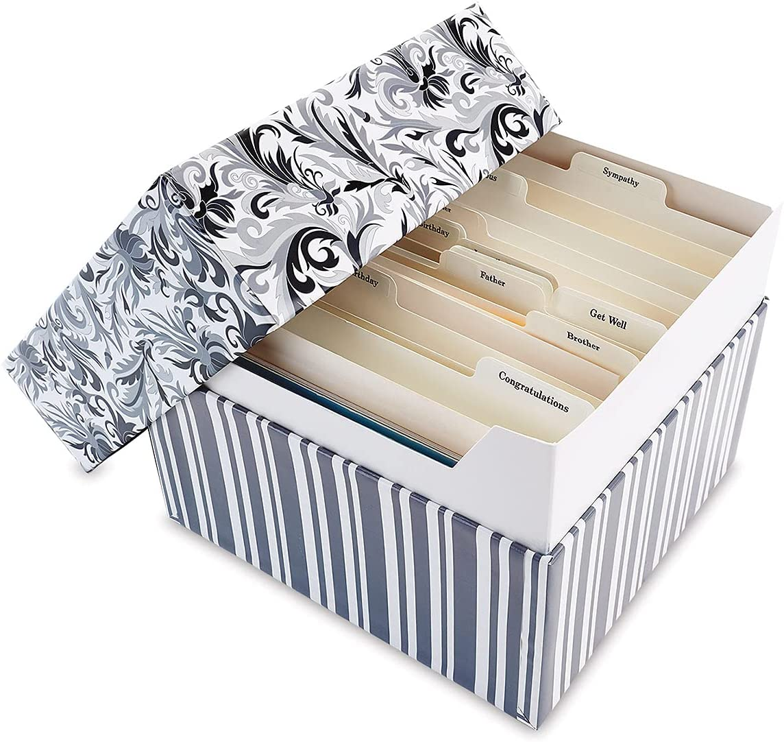 Black Elegance Card Organizer Box - Reservation cards Max 72% OFF not Stores 140+ inclu