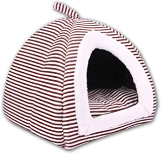 Striped Dog House Foldable Nest Kennel Teddy Dog Beds for Small Medium Pet Products House Pet Beds Cama para Cachorro