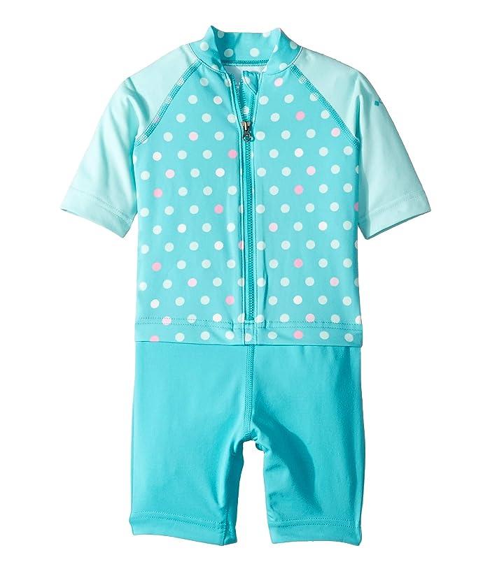 Columbia Kids  Sandy Shorestm Sunguard Suit (Toddler) (Geyser Polkadot Multi Print/Gulf Stream/Geyser) Girls Swimsuits One Piece