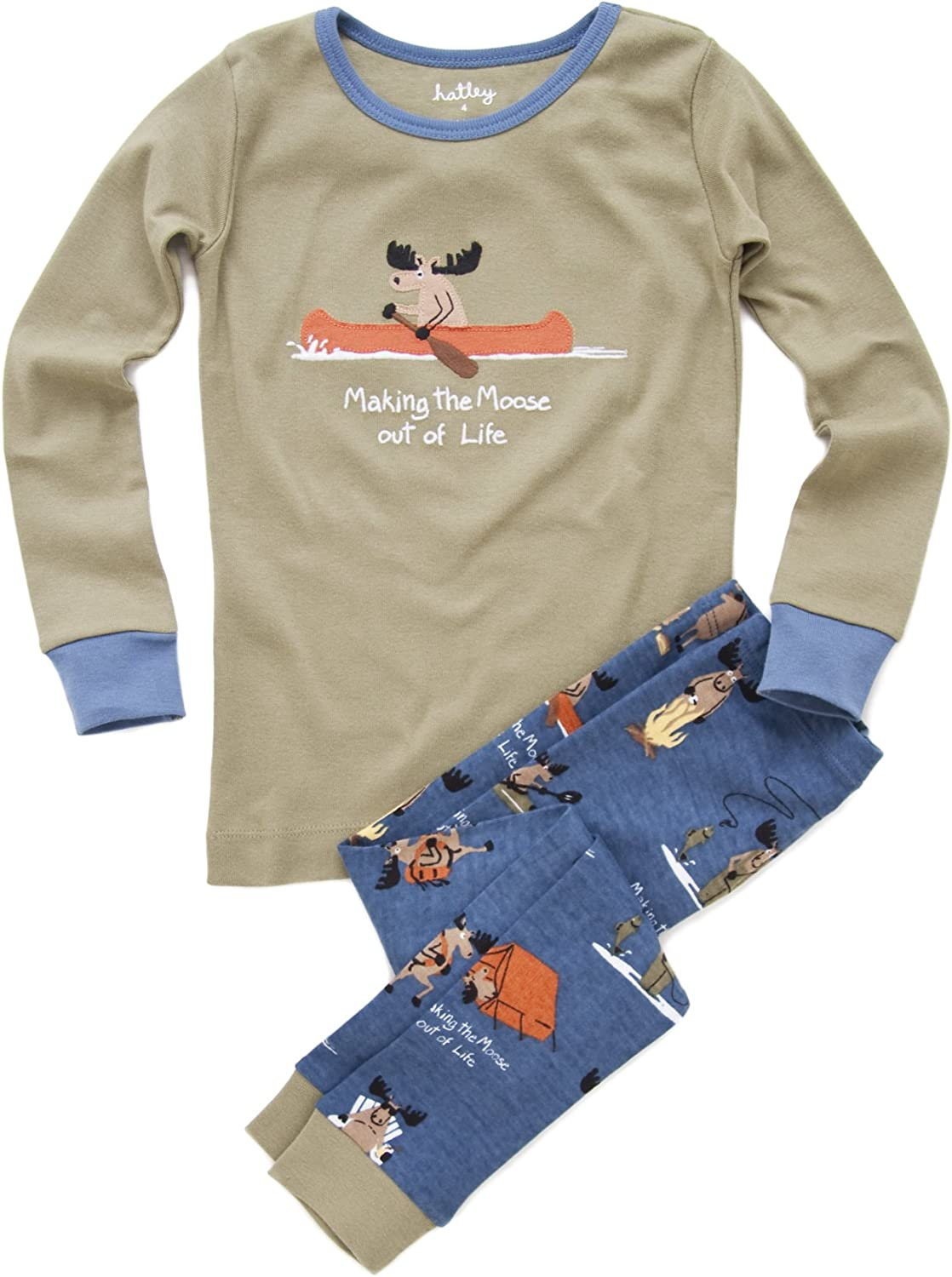 Hatley Deluxe Little Boys' Making The Moose Pajama Set Of Polo Out Life Ranking TOP2
