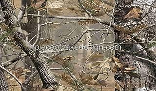 1/4 Sheet ~ Real Camo Woodland Trees Birthdays ~ Edible Cake/Cupcake Topper - D3929