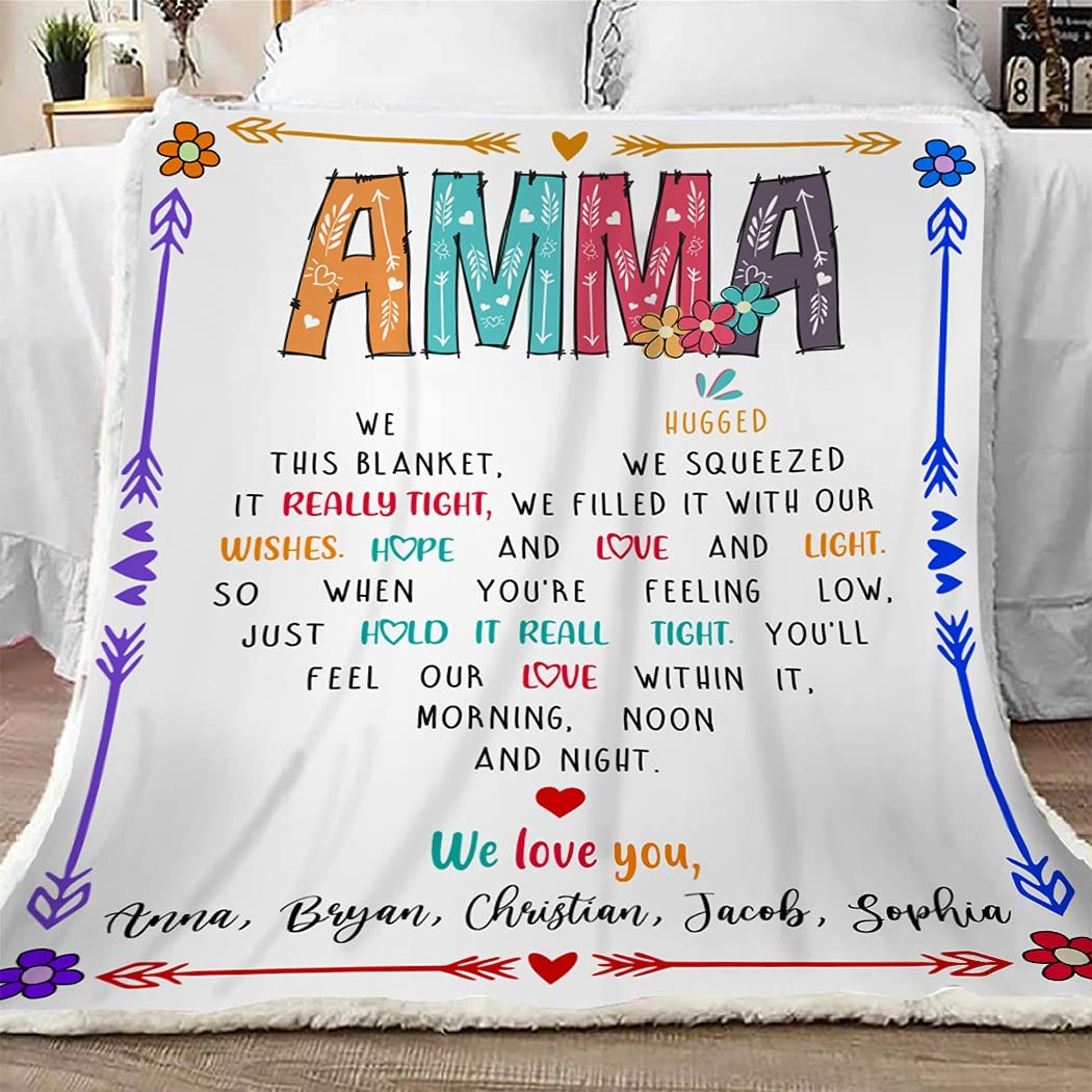 2021new shipping free Amma Throw Blanket We Hugged Price reduction Gift Funny Grandma This