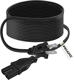 BRENDAZ 15-feet 2-Slot Polarized Power Cord, UL Listed (IEC320C7 to NEMA 1-15P) for Arris Router Modem, Vizio Sharp Sanyo Emerson TV, PlayStation 1 2 PS1 PS2, Solo 15 II TV Sound Bar, Xbox Console.