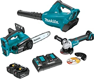 Makita XT274PTX 18V X2 (36V) LXT Lithium-Ion Cordless 2-Pc. Combo Kit (5.0Ah) and Brushless Angle Grinder