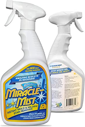 MiracleMist Instant Mold and Mildew Stain Remover for Indoor and Outdoor Use - Long Lasting Bathroom, Deck, Concrete, Vinyl, Tile Cleaner, 32 Oz