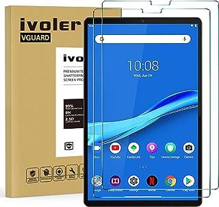 ivoler 2-pack skärmskydd för Lenovo Tab M10 Plus/Lenovo Tab M10 FHD Plus 10,2 tum, härdat glasfilm för Lenovo Tab M10 Plu...