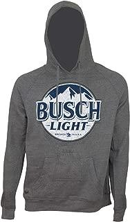 Light Bottle Label Dark Grey Beer Pouch Hoodie X-Large