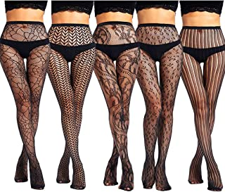Thigh High Stockings Suspender Pantyhose Tights with Garter Belt Fishnet Stockings