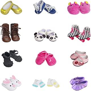 f2261d765f1e 5 Pairs of Shoes + 2 Pairs of Socks Fits for 18 inch Doll Shoes American