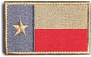 Texas State Flag Tactical Morale Patch Appliques (Texas Red)