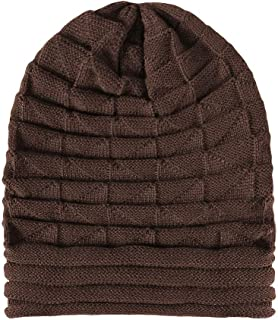 f092189b86 DySm Wool cap, ladies autumn and winter knit hat, single layer acrylic  pleated outdoor