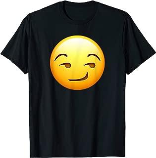 Smirk Emoji T-Shirt Smile Smiley Emoticon Funny Face