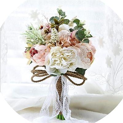 Amazon Com S Ssoy Wedding Romantic Bouquet Bride Bridal Bouquets