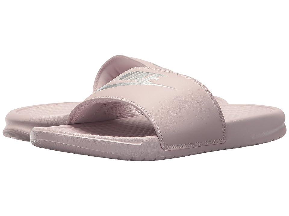Nike Benassi JDI Slide (Particle Rose/Metallic Silver) Women