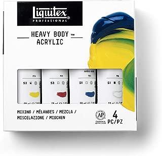 Liquitex Professional Heavy Body Acrylic Paint Set, Mixing 4