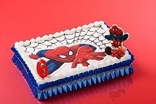 Forma Pane Azzimo Spiderman 26 x 16 cm \u2013 Decorazione per torta compleanno  goûter \u2013 050
