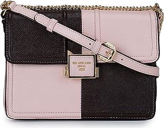 Da Milano Dual tone Pink and Purple Leather Sling Bag