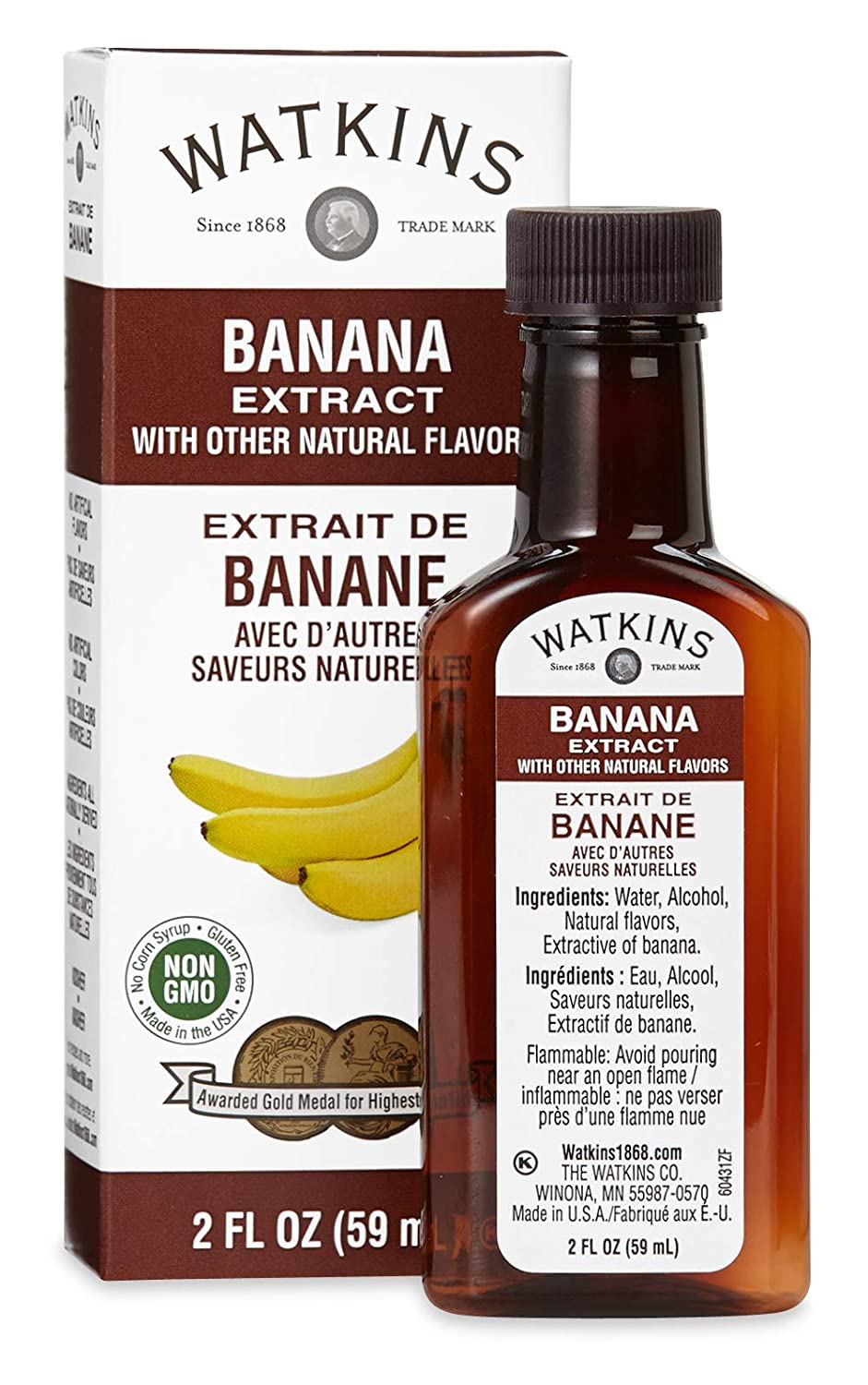 Watkins Banana Extract with Other Large special price !! Bottles 2 Natural Max 44% OFF Flavors oz.