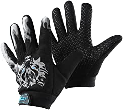 Accmor Kids Fishing Gloves, Kids Sport Gloves, Kids Cycling Gloves, Children Full Finger Gloves for Cycling Camping Fishing Parkour Outdoor Sports (Black)