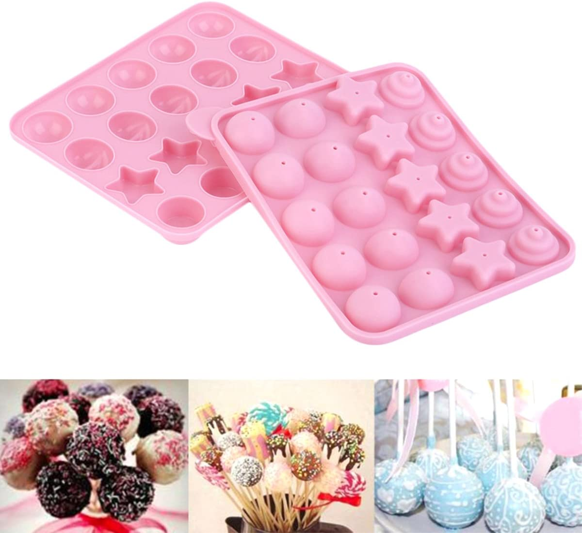 OUNONA Cake Pop Mold Tampa Mall Silicone for Lollipop Hard Candy Party and Super sale period limited