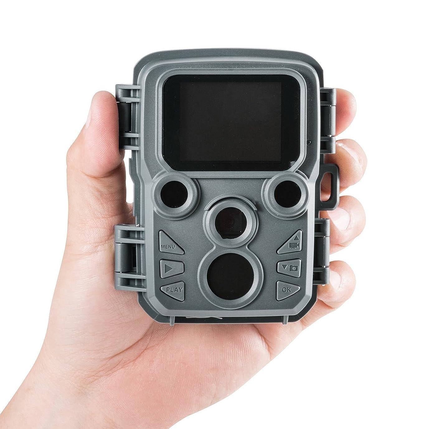 納税者スケジュール法的サンワダイレクト 防犯カメラ 小型 電池式 防水防塵IP56 写真 動画 自動撮影 70°検知 トレイルカメラ 400-CAM066