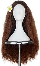 Women 80cm Long Kinky Curly Hair Movie Cosplay Costume Wig Halloween Adult Kids (Copper Brown)