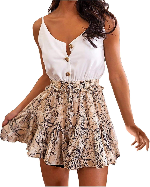 iQKA Women Sling Direct sale of manufacturer Dress Summer Neck Suspender V Sleeveless Dresse Ranking TOP2