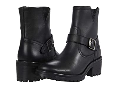 Steve Madden Grotto Booties (Black Leather) Women