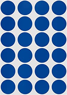 ChromaLabel 3/4 inch Color-Code Dot Labels on Sheets | 1,008/Pack (Dark Blue)