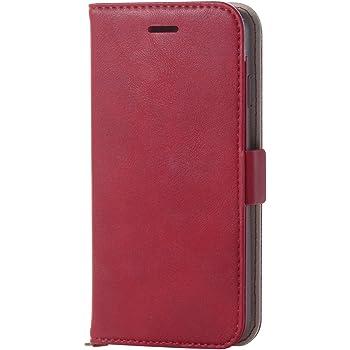 エレコム iPhone 8 ケース カバー 手帳型 レザー サイドマグネット スタンド機能付き ICカード iPhone 7 対応 レッド PM-A17MPLFYRD
