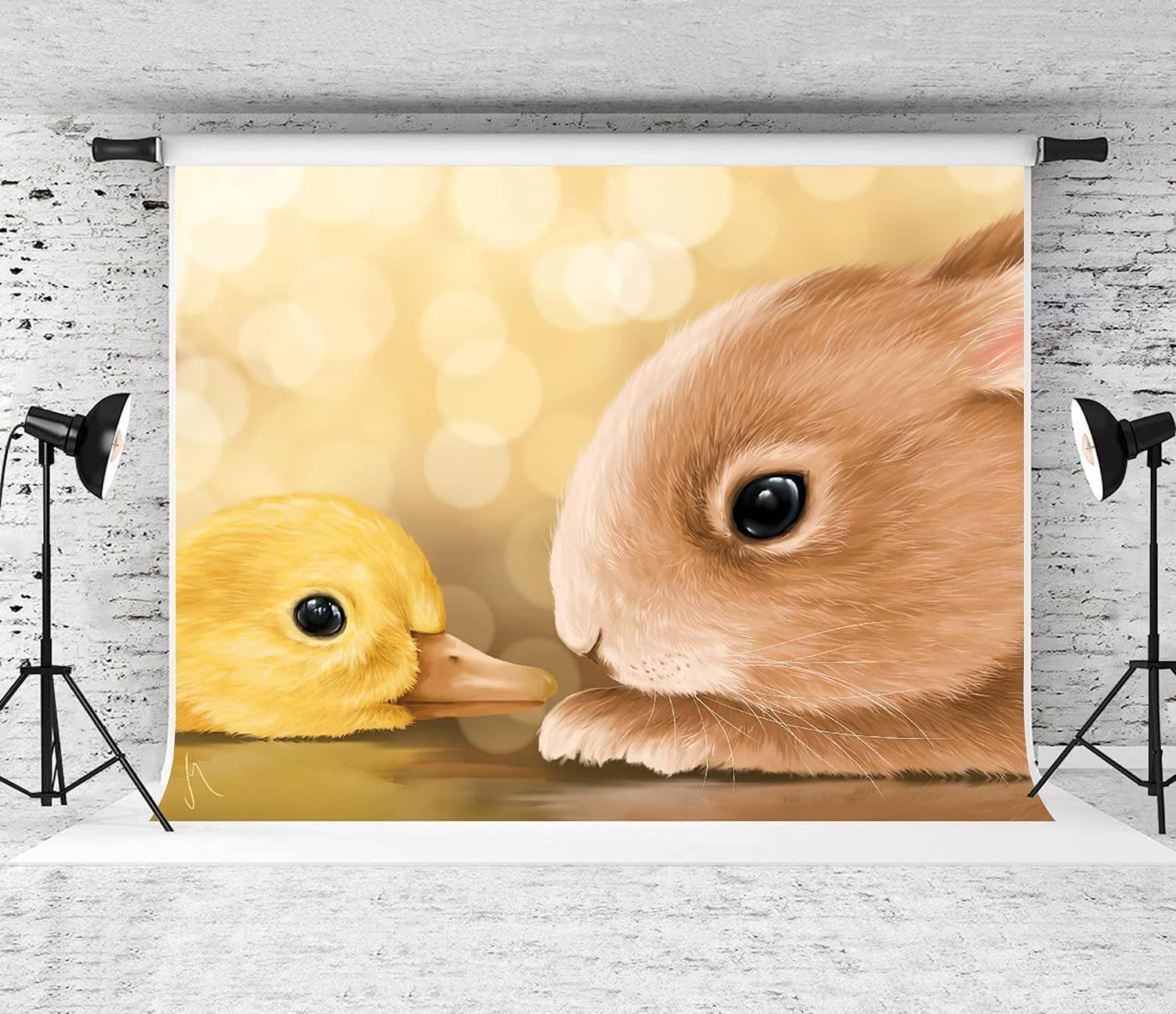 GUVICINIR Photography Background Bunny Directly managed store Ranking TOP16 Animals Duckling Holiday