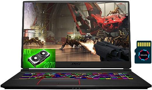 "2021 MSI GE75 Raider 17 Premium Gaming Laptop I 17.3"" FHD IPS 144Hz I Intel Hexa-Core i7-10750H I 32GB DDR4 1TB SSD 1TB HDD I RTX 2070 8GB RGB Backlit Webcam Win 10 + Delca 32GB Micro SD Card"
