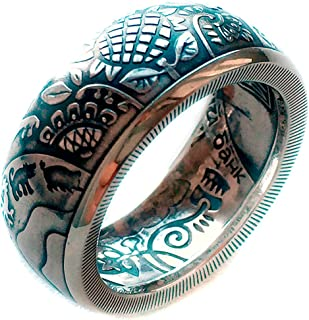 Ukrainian Silver Coin Ring 2017 Great Unique Souvenir made in Ukraine - Wedding ring - Band