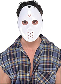 Amscan Hockey Mask, White, Costume Accessory, One size