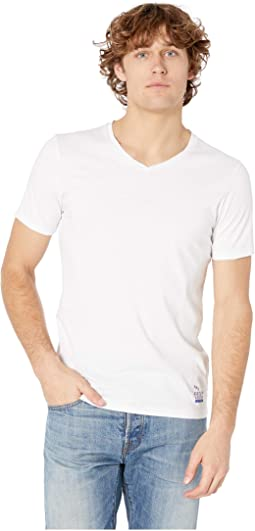 Classic Solid Cotton/Jersey V-Neck Tee