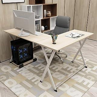 sogesfurniture BHEU-ZJ1-MO Computertafel, hoekbureau in L-vorm, grote hoekschrijftafel, pc-tafel, bureautafel, hoektafel m...