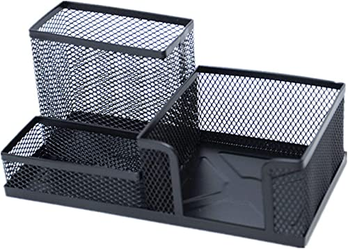 Las ventas en línea ahorran un 70%. Papelería de oficina oficina oficina - Caja de almacenamiento de soporte de la pluma negra a prueba de herrumbre Rejilla Soporte de pluma de escritorio de escritorio de metal (10)  ahorra hasta un 30-50% de descuento