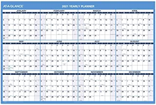"""2021 Erasable Calendar, Dry Erase Wall Planner by AT-A-GLANCE, 48"""" x 32"""", Jumbo, Academic & Regular Year, Double Sided, Ho..."""