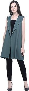 Fbella Women Cotton Casual Wear Military Green Jacket Shrug